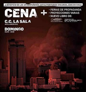 CENA  Abeneficio de los compañeros presos en Chile  +